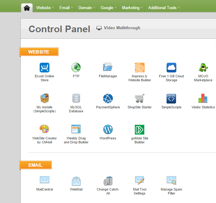 iPage-controlpanel