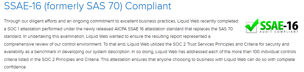 Liquid Web compliance