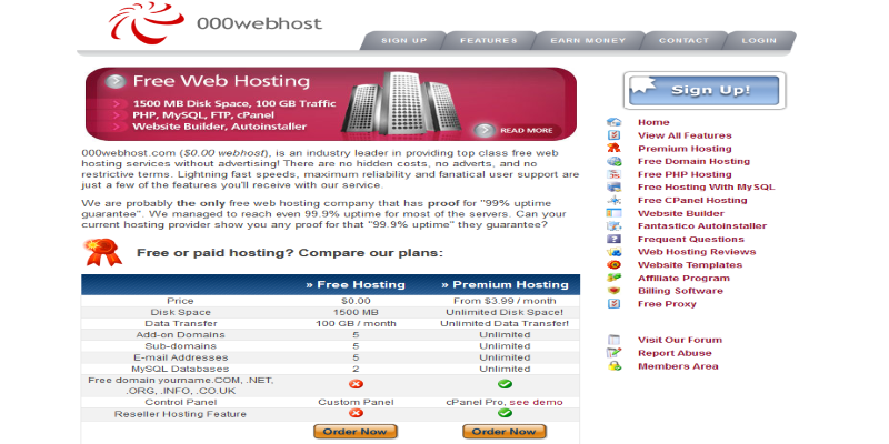 5 Best Free Web Hosting