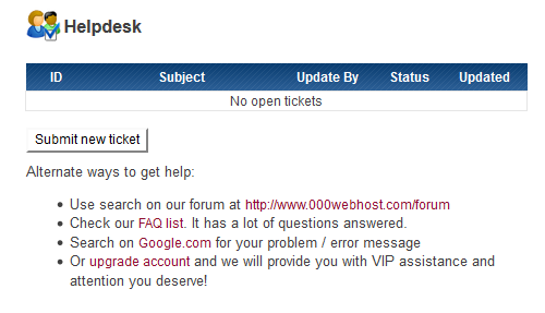000webhost support