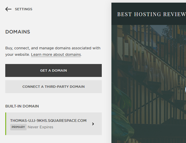 Squarespace domain