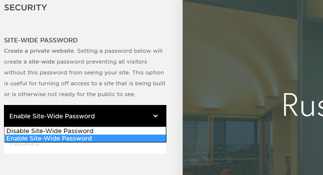 Squarespace password