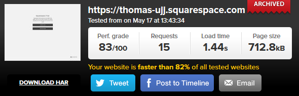 Squarespace speed2