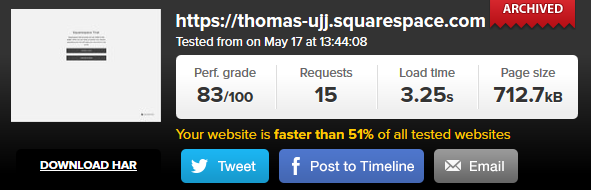 Squarespace speed3