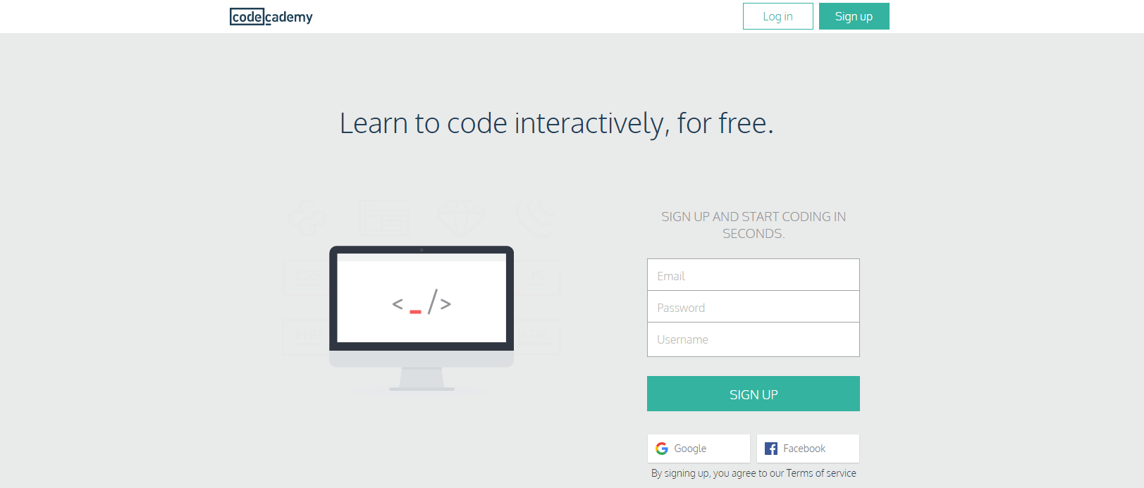 learn web development at codecademy