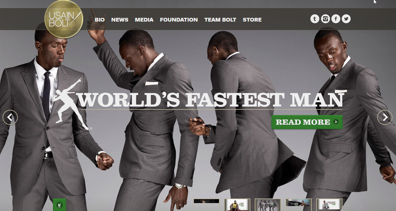 Usain Bolt Worpress uses WordPress!