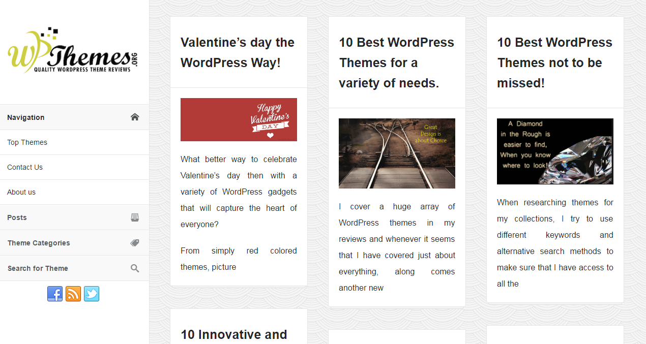 WP Themes Sister Site