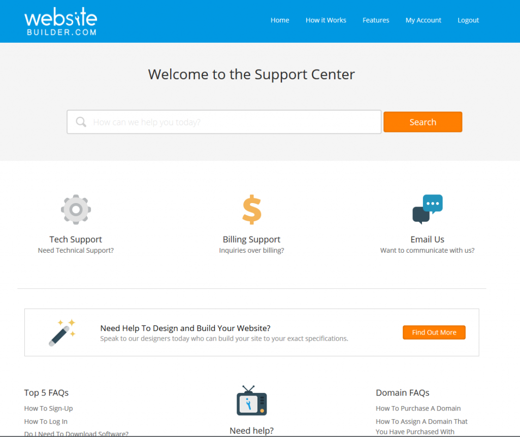 WebsiteBuilder.com support