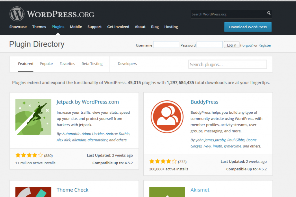 WordPress plugins install